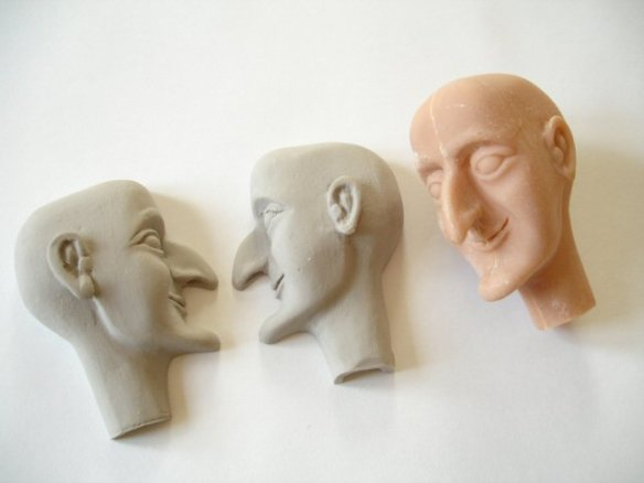 examples to show press-casting hollow heads