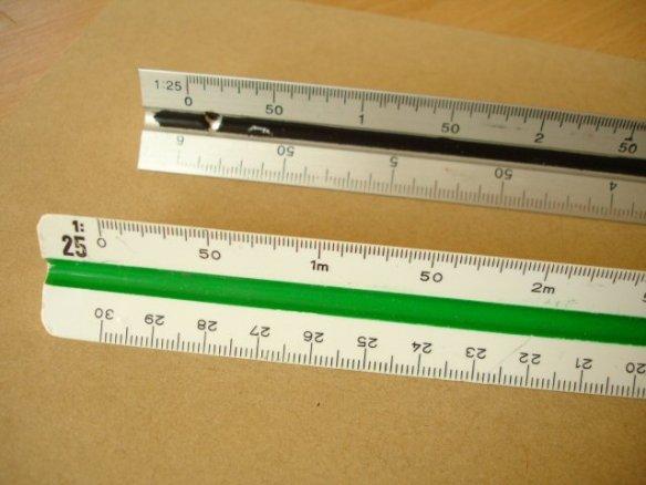 1:25 scale rulers