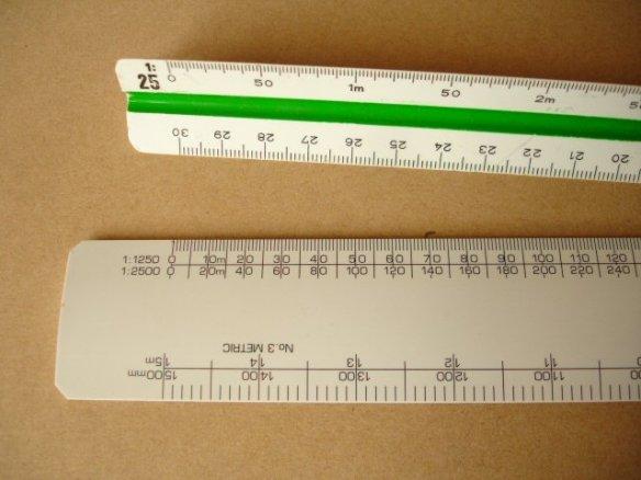 architectural scale ruler compared