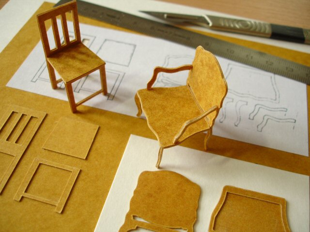 Working with stencil card davidneat Scale model furniture