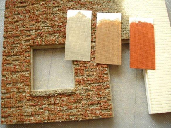superficies con foamboard Drybrushing
