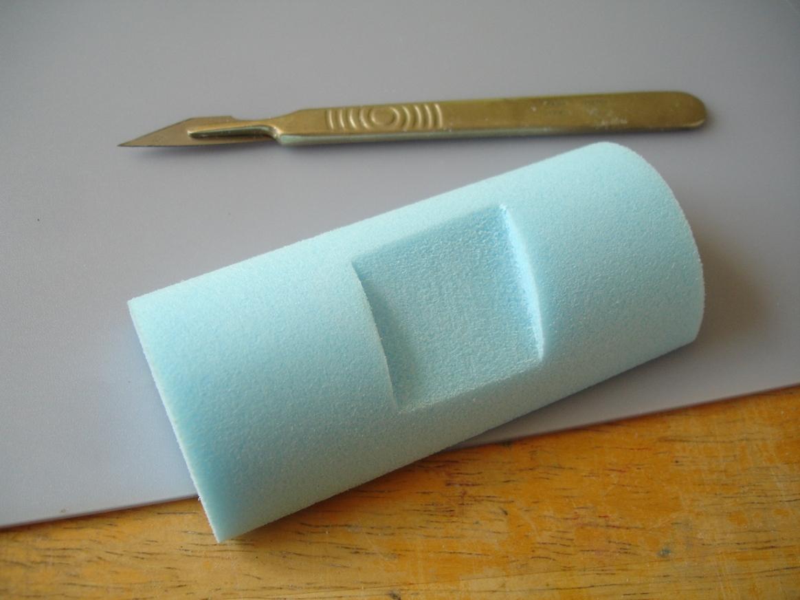 styrofoam repair demo, damage cut out