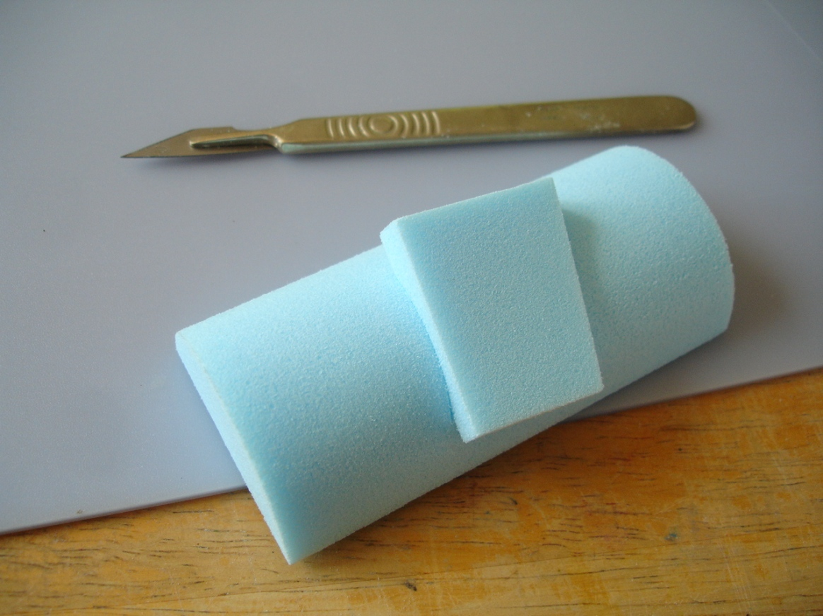 styrofoam repair demo 'patch' inserted