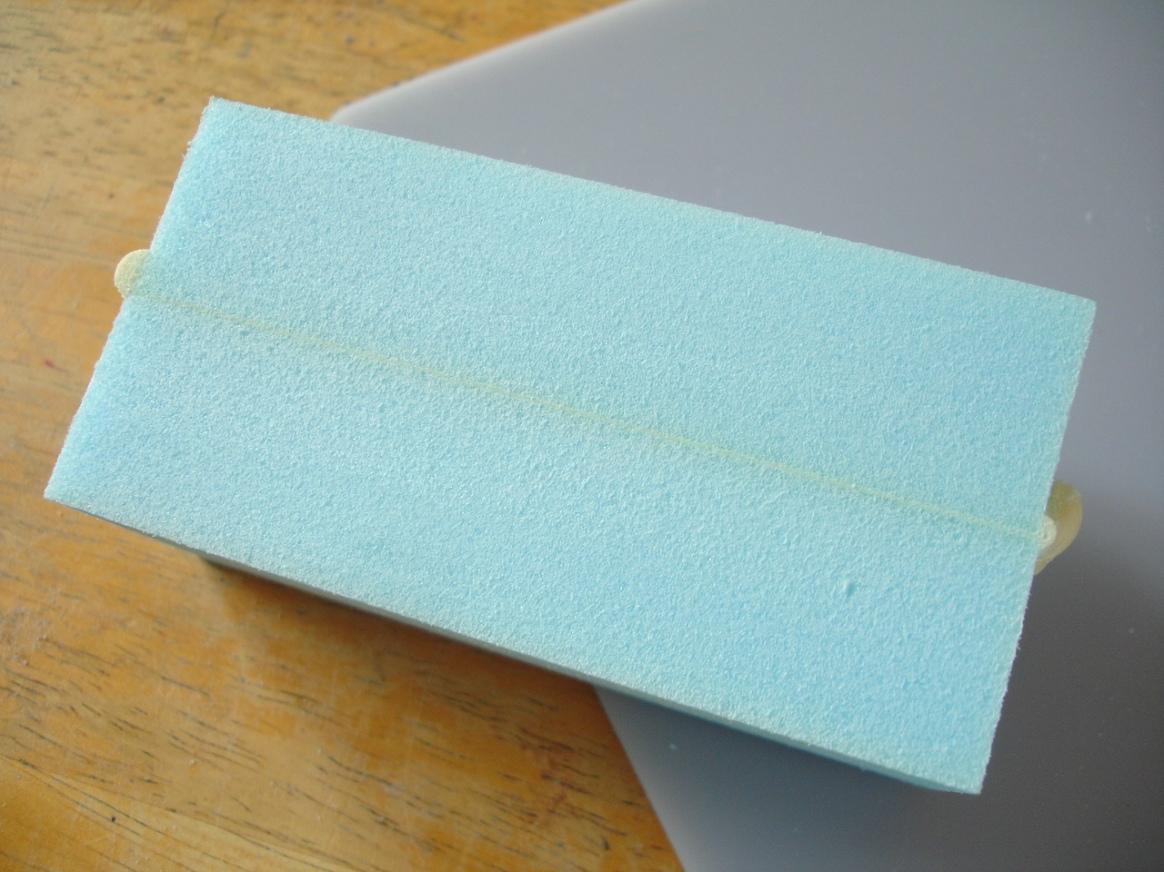 Gorilla Glue test, section through the seam