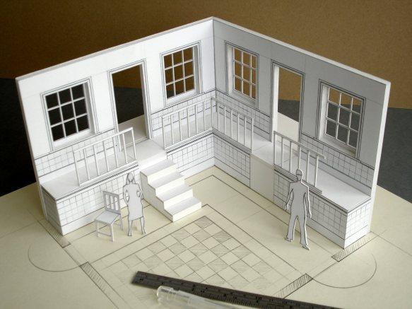 white card model