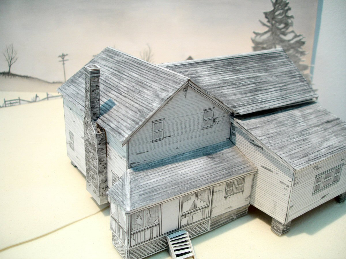 Model making with foam board davidneat for Foam panel house