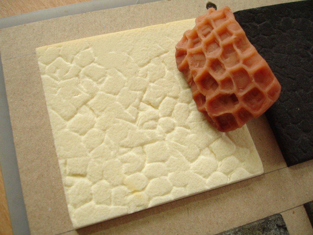 pressed pattern in Kapa-line foam