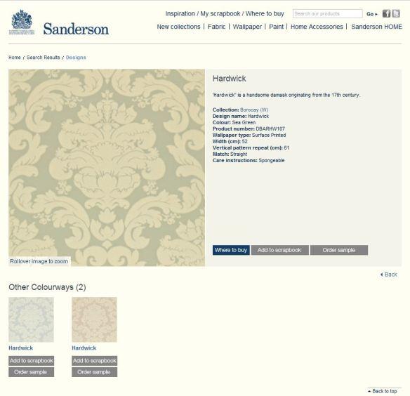 Sanderson website page