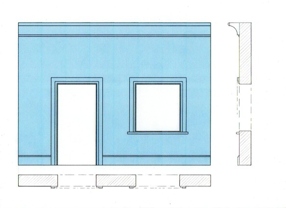simple interior wall drawing