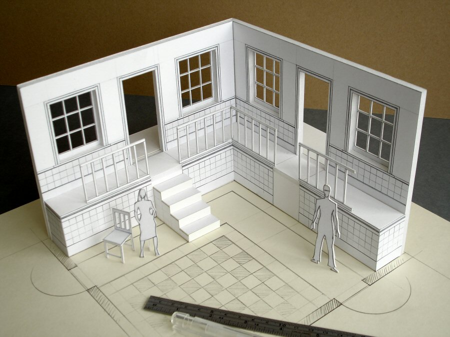 Working in scale davidneat for 3d house model maker