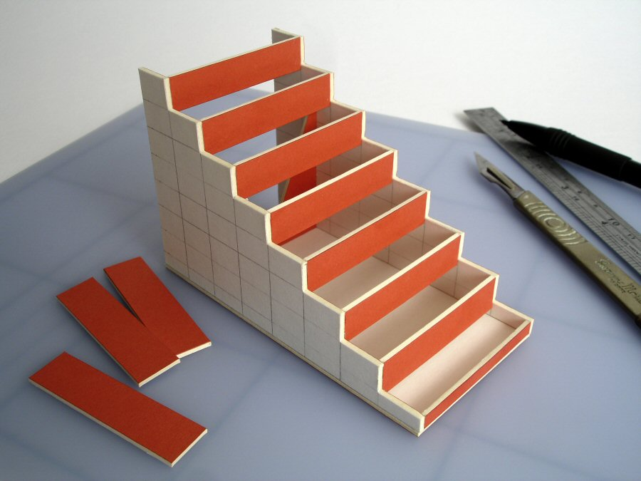 Tower Staircase Miniature : Making a model spiral staircase davidneat