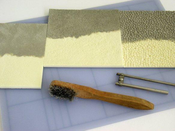 texturing Kapa-line foamboard foam