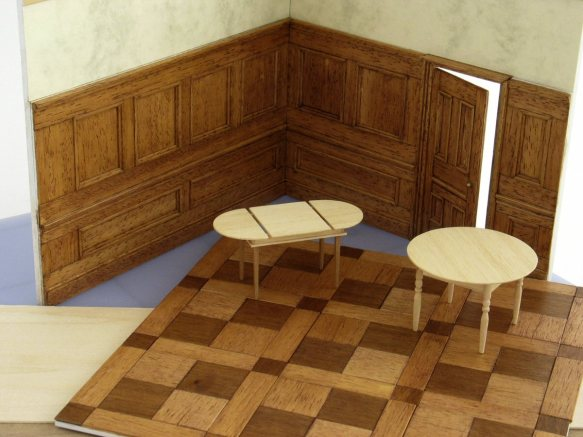 panelled walls and wood floors