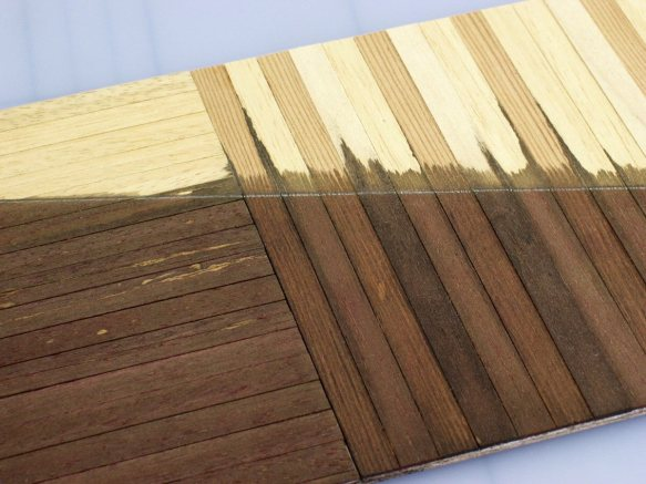 floorboards in the model