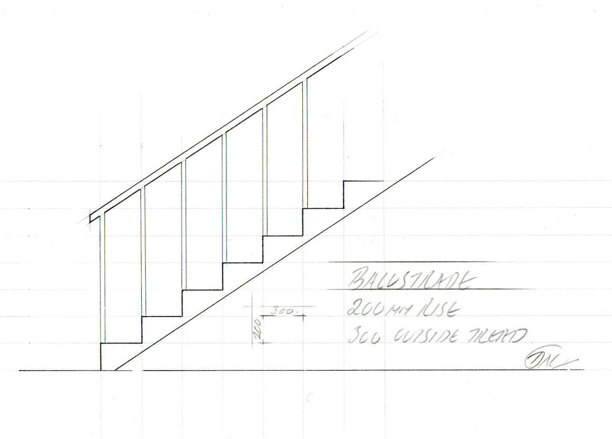 how to draw underground stair