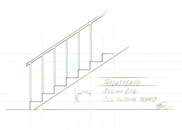 balustrade drawing