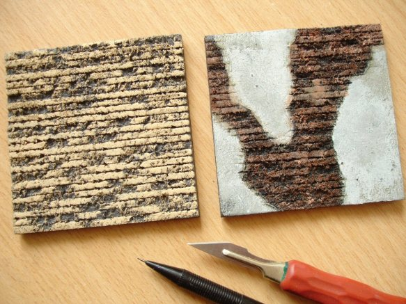 using black foamboard for brickwork