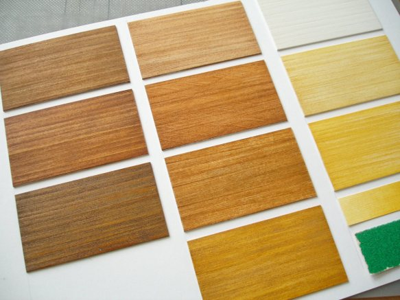 Pvc wood effect samples