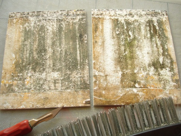 distressing surface