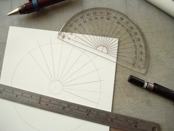 marking up a spiral staircase