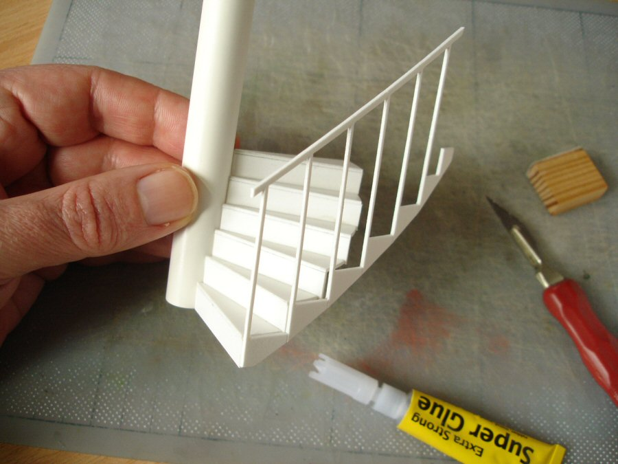 Making a model spiral staircase davidneat for Build best construction