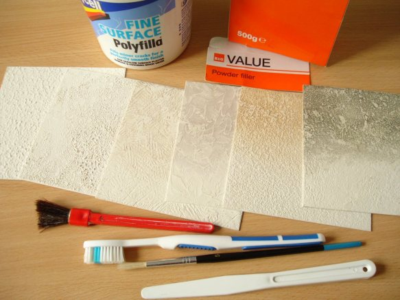 textures using fine surface polyfilla