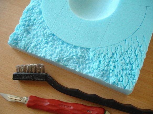 texturing styrofoam