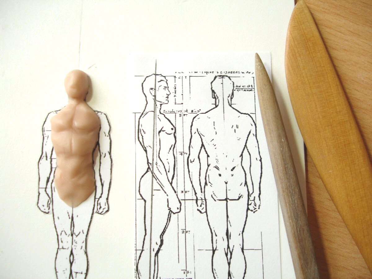 Drawing clay (plasticine): basic techniques 38