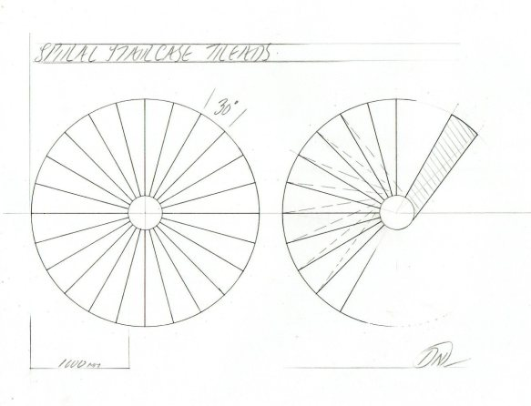 spiral staircase plan