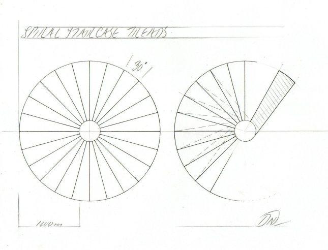 circular stairs plans