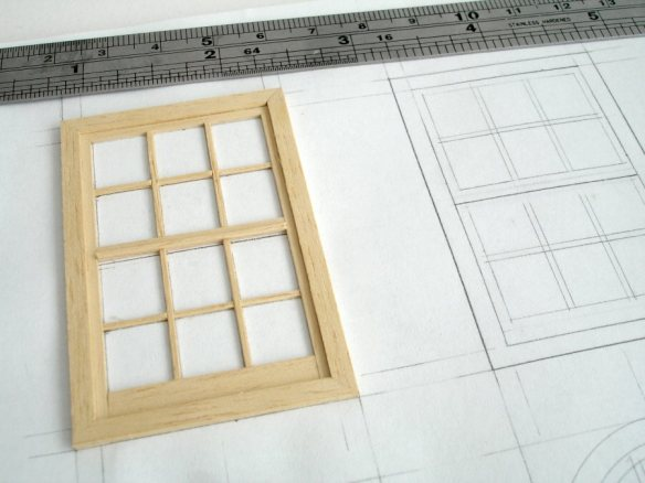 building windows on drawn template