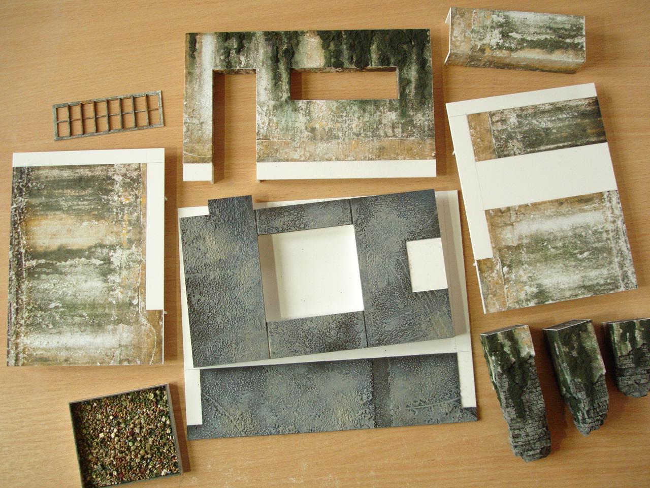 Oldsarges wargame and model blog modeling making basics for Waste material model making