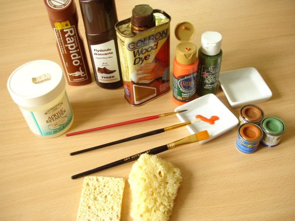 painting materials for model-making