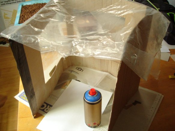 improvised spray-booth
