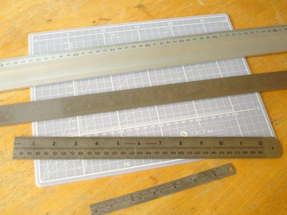 metal rulers