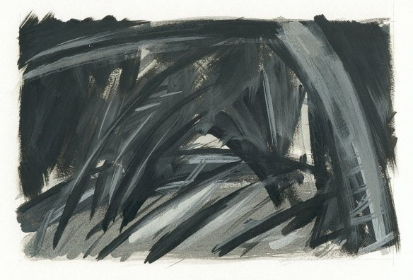 landscape.34 oil on paper (1998)