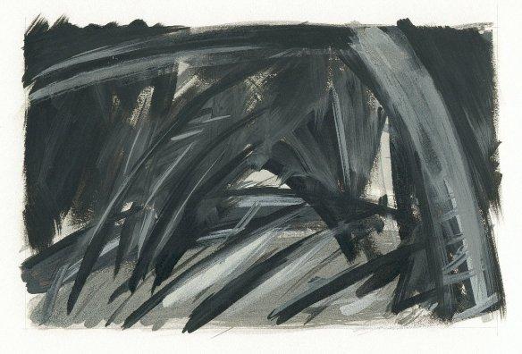 landscape.34 oil on paper (1998)