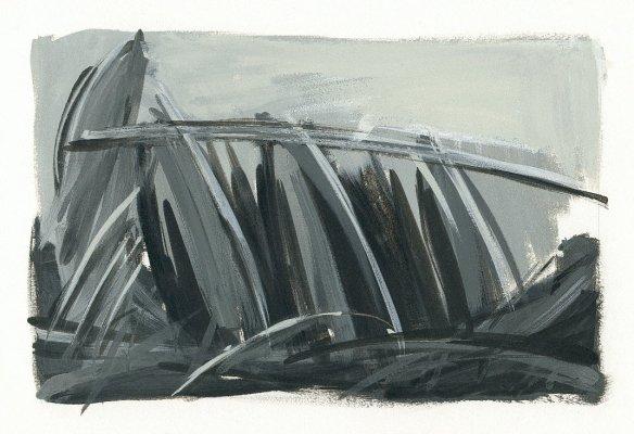 landscape.36 oil on paper (1998)