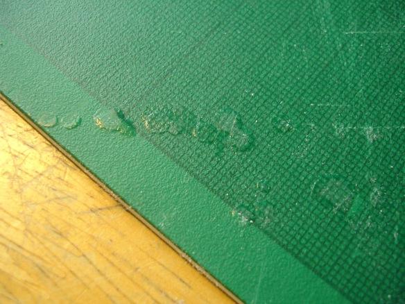 cutting mat with superglue