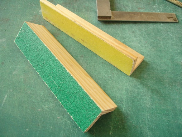 sanding blocks 60 and 120 grit