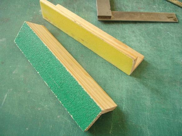 sanding blocks 60 and 120 grit