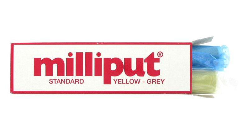 Milliput 2 part epoxy filler Yellow-Grey Standard grade