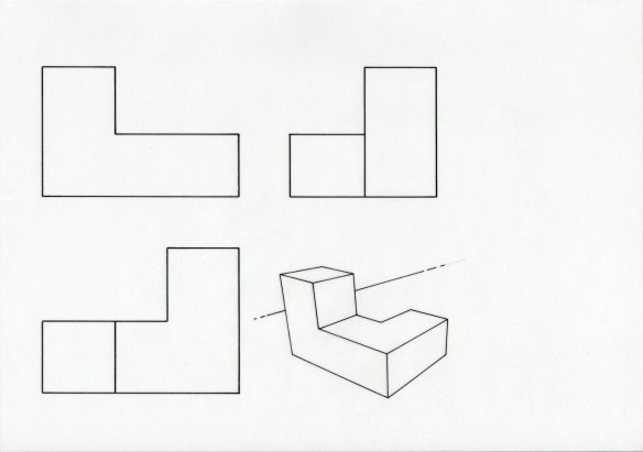 simple orthographic layout