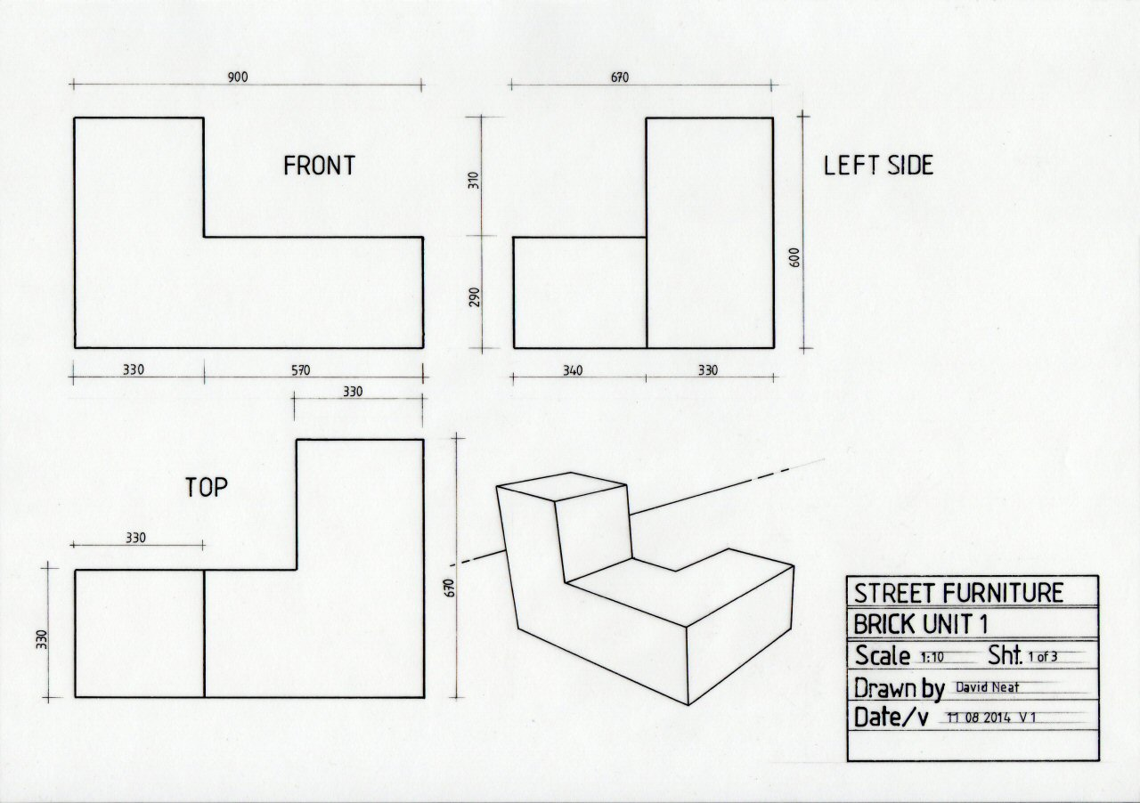 Layout In A Technical Drawing Davidneat