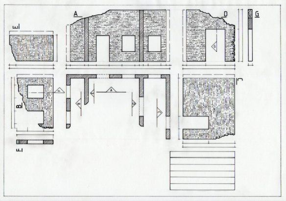 Showing the arrangement of views of a set design on the drawing sheet