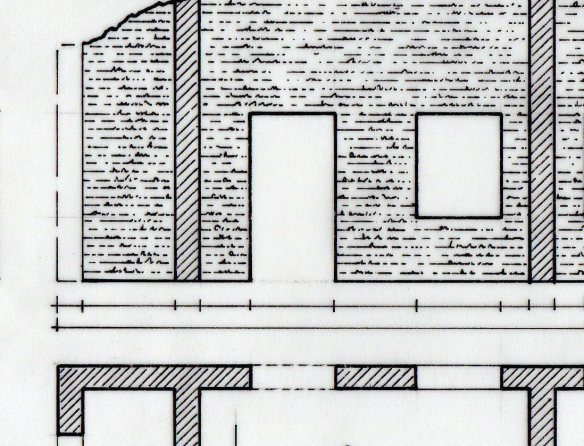 detail showing groundplan relating to elevation