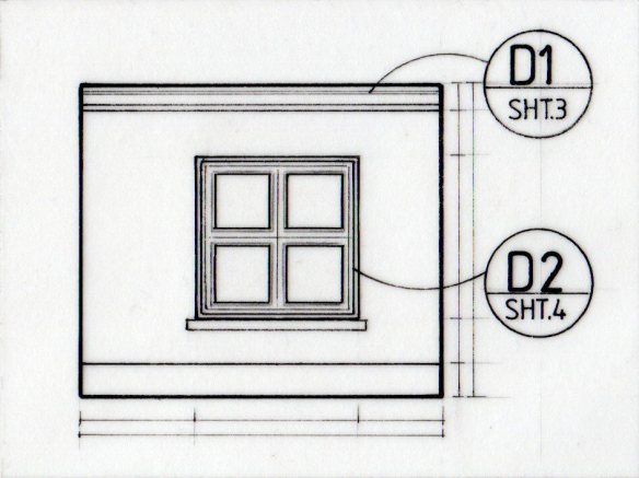 Coding details in a technical drawing