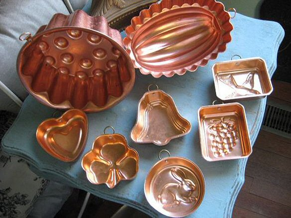 traditional copper cake moulds