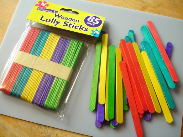 Poundland wooden lolly sticks