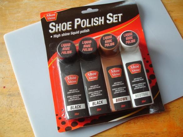 Poundland liquid shoe polish